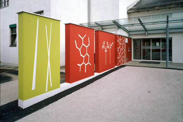 agnes fuchs, wall design in hainfeld regional senior citizens and care home