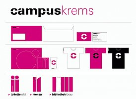 corporate design für den campus krems